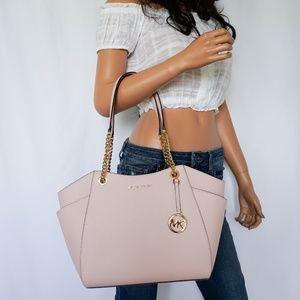 Michael Kors Jet Set Chain Tote Bag Blossom Pink